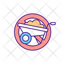 Construction Works Prohibition Icon