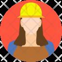 Female Architect Engineer Icon