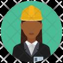 Constructor Construction Woman Icon