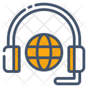 Consultancy Services Global Communication Headphones Icon