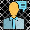 Consultant Businessman Customer Icon