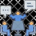 Consultant Meeting Brainstorming Icon