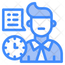 Consultant Manager Time Icon