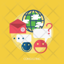 Consulting Email Global Icon