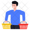 Buyer Consumer Shopping Person Icon