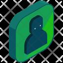 Contact User Isometric Icon