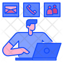 Contact Communicate Telephone Icon