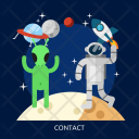 Contact Space Universe Icon