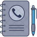 Contact List Directory Phone Book Icon