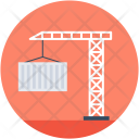 Container Shipping Crane Icon