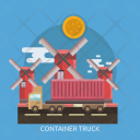 Container Truck Cargo Icon