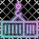Container Crane Logistics Icon
