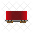 Container Railway Freight Car Icon