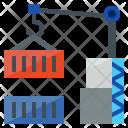 Container Holder Logistics Icon
