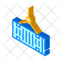 Container Logistics Isometric Icon