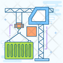 Container Crane Container Hoist Container Lifting Icon