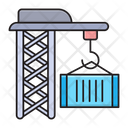 Crane Shipping Logistics Icon