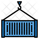 Cargo Container Delivery Icon