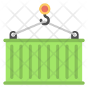 Container Lifting Shipping Icon
