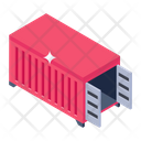 Container Loading Cargo Logistic Icon