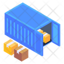 Cargo Loading Container Loading Logistic Loading Icon