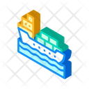 Ship Shipping Containers Icon
