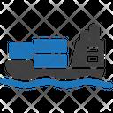 Container Ship Logistics Icon