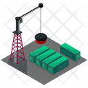 Container Yard Crane Icon