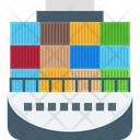 Containers Logistics Delivery Port Icon