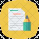 Content Edit Paper Icon
