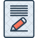 Content Writing Paper Storytelling Writing Icon