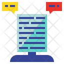Content Data Message Icon