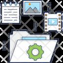 Data Management Content Management Process Management Icon