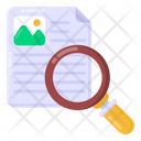 Content Search Content Analysis Data Analysis Icon