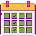 Content Calendar Calendar Content Icon