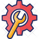 Content Development Engineering Gear With Wrench Icon