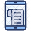 Content Document Mobile Document Paper Icon