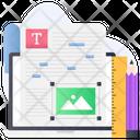 Content Editing Artilde Editing Blogging Icon