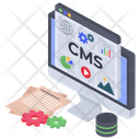 Content Management Article Blogging Icon