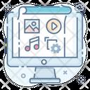 Content Management Content Configuration Content Development Icon