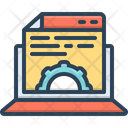 Content Management Gratified Willing Icon