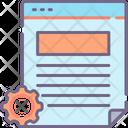 Mcontent Management Content Management Web Configuration Icon