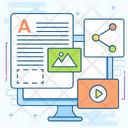 Content Marketing Copywriting Content Creation Icon