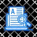 Content Marketing Media Blogging Article Writing Icon