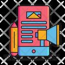 Content Marketing Digital Marketing Online Marketing Icon