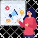 Web Marketing Content Marketing Social Media Marketing Icon