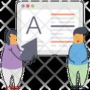 Content Optimization Content Development On Optimization Icon