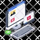Web Content Web Video Video Content Icon