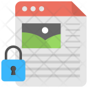 Content Protection Webpage Icon
