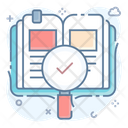 Search Book Book Finding Keyword Research Icon